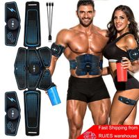 Abdominal Muscle Stimulator Trainer EMS Abs Fitness Equipment Training Gear Muscles Electrostimulator Toner Exercise at Home Gym, Snapfitnessdeals, Sports & Entertainment - Fitness & Body Bui