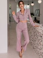 Glamaker Button Front Crop Blazer & Flare Leg Pants - The Crown on the Cross