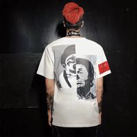"Men oversized short sleeve ""clown"" fashion tshirt"