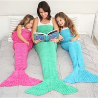 14 Colors Mermaid Tail Blanket For Adult Super Soft