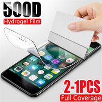 2Pcs 500D Hydrogel Film  Screen Protector For iPhone 7 8 Plus 6 6s Plus Soft Protective Film On iPhone 11 X XR XS Max 11 Pro Max - Premium Quality 20