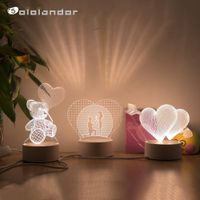 3D Lamp Heart-shaped Balloon Acrylic LED Night Light Decorative Table Lamp Valentine's Day Sweetheart Wife's Gift