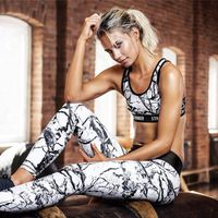 2pc Fitness Suit Printed Yoga Suit
