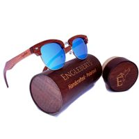 100% Real Sandalwood Sunglasses With Bamboo Case,