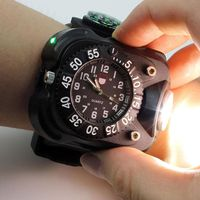 3 in 1 Sportsman combo flashlight, compass, and watch