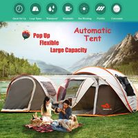 2-8 People Fully Automatic Camping Tent Windproof Waterproof Automatic Pop-up Tent Family Outdoor Instant Setup Tent 4 Season - Pinnacle Camping And Hiking