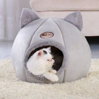Removable Cat Bed Warm Pet Cat House Cave Winter