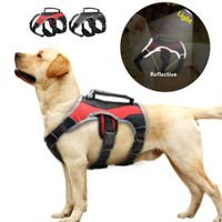 Reflective Nylon Large Dog K9 Harness Mesh Padded