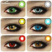 EYESHARE 1 Pair  Beautiful Pupil  Eye Cosmetic Colorful Contact Lenses Halloween Cosplay Lenses Crazy Lens for Eyes - EclatBrilliant