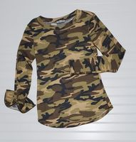COZY CAMO WAFFLE KNIT TOP-Long Sleeve Pullover-Litchfield Lane Boutique