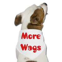 More Wags Bandana - white