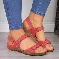 2020 New Women Sandals Soft Three Color Stitching Ladies - Altaycenter