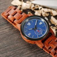 Men's Handcrafted Kosso Wood Watch