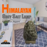 Grey Himalayan Salt Lamp  - SimplyEleven Singapore