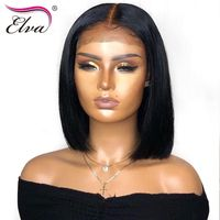 Lace Front Human Hair Remy Hair Bob Wig Pre Plucked Baby Hair