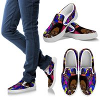 Colorful Music Slip ons