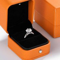 Solitaire ring Real 925 Sterling silver - New Jewelry Shop