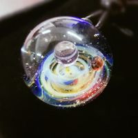 Cosmic Nebula Glass Space Necklace 10 Galaxies - Vorticus