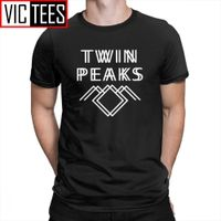 Twin Peaks Men T Shirts Creative Tees Short Sleeved Apparel Pure Cotton T-Shirts Male Stylish Popular TV Series - Doomsday Wholesales