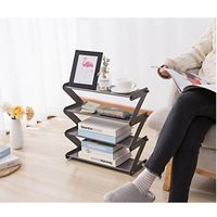 """Z"" Shape Shoe Rack Shoe Tower Organizer with 4-Tier Durable Stainless Steel - MayN Style"