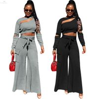 Casual Track Suit Women Outfits Sweat Suits Women Set O-neck Full Sleeve Crop Top Pants Two Piece Set Suit Night Club Outfits