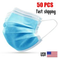 50 Pcs 3-Layer Disposable Medical Face Mask Brand New
