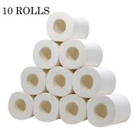 White Toilet Paper Toilet Roll Tissue Roll Pack Of 10 3Ply Paper Towels Tissue Household Toilet paper toilet tissue paper 2020#