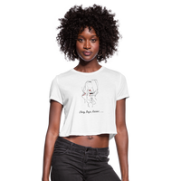 Classy Savage Cropped Tee - white