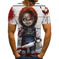 2020 Mens horror T shirts Fashion New Summer Men's Short Sleeve T-shirt Casual 3D Zombie Print Rock Tshirt For Man Full Printed - Goldentalk.tv.godaddy/.com