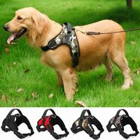 The new Nylon Heavy Duty Dog Pet Harness Collar Adjustable Padded Extra Big Large Medium Small Dog Harnesses vest - Pet owners20.com
