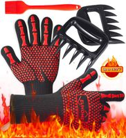 3 in 1 Grilling Set - Gloves, Claws, & Brush