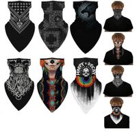 Face Cover Balaclava Scarf Neck Outdoor Sport Earloop Headband Unisex Fashion Funny Windproof Dust Scarf Wrap Camping Accessory