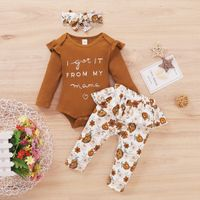 """(0M-24M) 3Pcs Adorable """"I Get It From My Mama"""" Floral Printed Outfit With Floral Hairband - Paradise Xpress Shopping"""