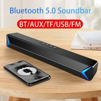 2020 TV Sound Bar AUX USB Wired and Wireless Bluetooth Home Theater FM Radio Surround SoundBar for PC TV Speaker for Computer - WayMakerRoad