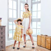 (Mommy & Me) Yellow floral dress (set of 2) - ApolloShipping