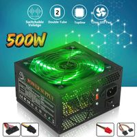 500W Power Supply LED Fan  12V PC Computer - FULL-STAFF