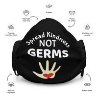 Spread Kindness Not Germs Face mask - Fabulous Face Masks