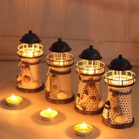 Lighthouse Candle Holder Mediterranean-style Iron Candle Holder-Decor-The Little Glass Frog