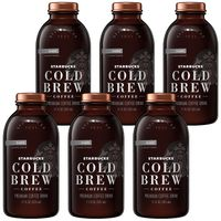 Starbucks Cold Black Unsweetened, Black Sweetened and Cocoa and Honey (6 Pack)