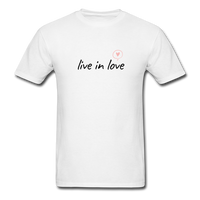 Live in Love Tee - white