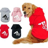 Dog Clothes Pet Casual Hooded Coat Autumn Large Dogs Coat Jacket For Labrador ClothingCostumeSolid ColorPrinting Large Size - The Good Pupper