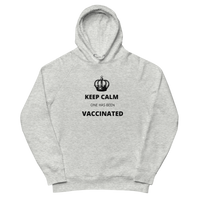 Keep Calm, one has been vaccinated - Grey Hoodie