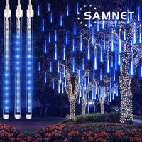 30cm/50cm LED Meteor Shower Garland Holiday Strip Light Outdoor Waterproof Fairy Lights For Garden Street Christmas Decoration - Capo Productions