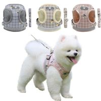 Reflective & Adjustable Dog Harness and Leash Set for Small Dogs.