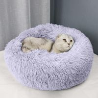 Soft Round Warm Soothing Bed for Cats, Small Dogs and Puppies - dogcatgiftshop