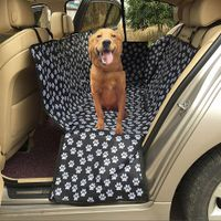 Foldable Mat for dogs on a back seat of a car with seat belts - dogcatgiftshop