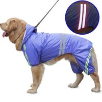 Reflective waterproof jumpsuit for large, medium and small dogs - dogcatgiftshop