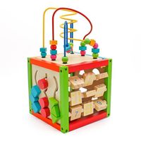 Wooden Learning Bead Maze Cube 5 in 1 Activity Center Educational Toy - Lucky Cloud Mall