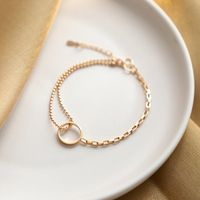 Gold Hollow Circle Bracelet