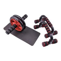 AB Power Roller Push-up Bar Stand Wheels Machine For Home Workout - no more gym